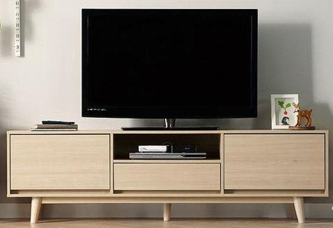 West Brook Tv Console (White Oak)