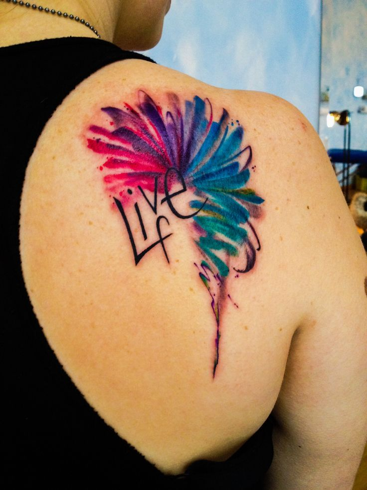 The newest addition to my body! Watercolor tattoo