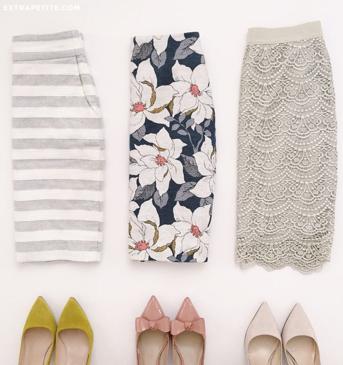 pencil skirts - from casual to lacey