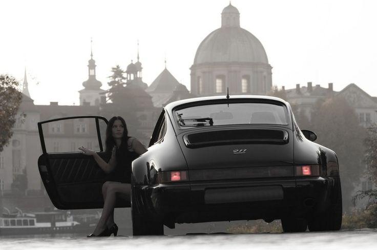 Porsche and Girl #porsche #cargirl