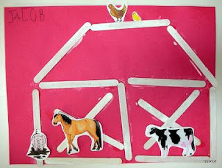 Tippytoe Crafts: farm.  Also like this for F is for farm.