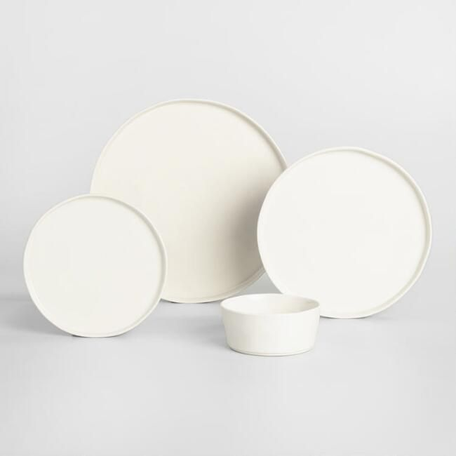 Ivory Organic Dinnerware from World Market - YES! Absolute favourite. White, organic and minimalist shapes and quality to it...LOVE LOVE LOVE!!!!
