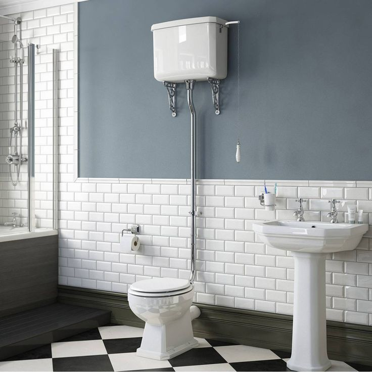 Regency High Level Toilet inc Luxury White MDF Seat