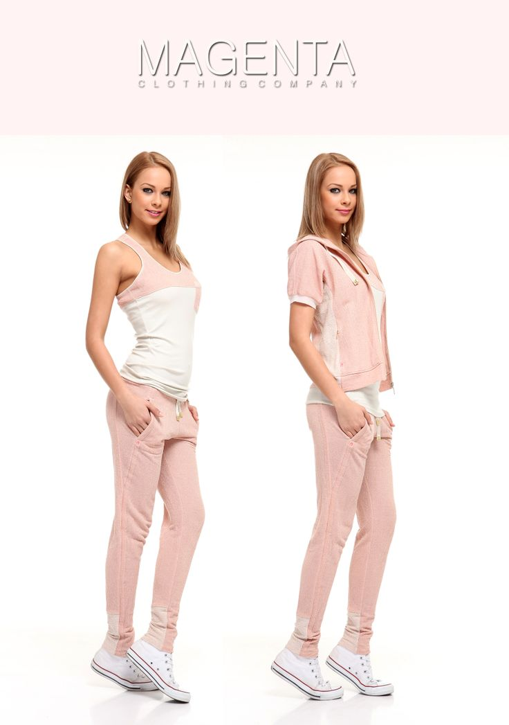 Sporty Magenta #magentafashion #trends #chic #fashion #outfit #sporty #adv #joggings