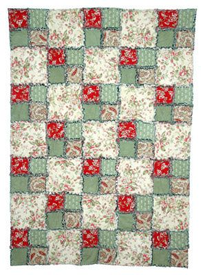 Easy Four-Patch Rag Quilt Pattern  I love stuff like this. I want to make a quilt so bad right now.