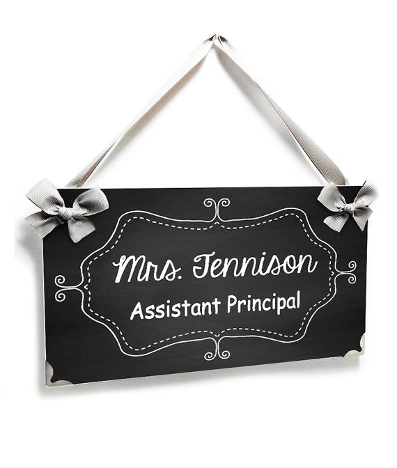custom Assistant Principal office door sign  by kasefazem on Etsy