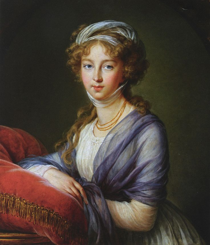 Grand Duchess Elisaveta Alexeevna oil on canvas, 78 x 67 cm, signed and dated lower left: L. E. Vigée Le Brun 1797. Collection of the Hesse Family 1st iteration