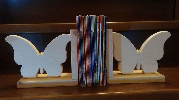 Podpórki do książek#motylki