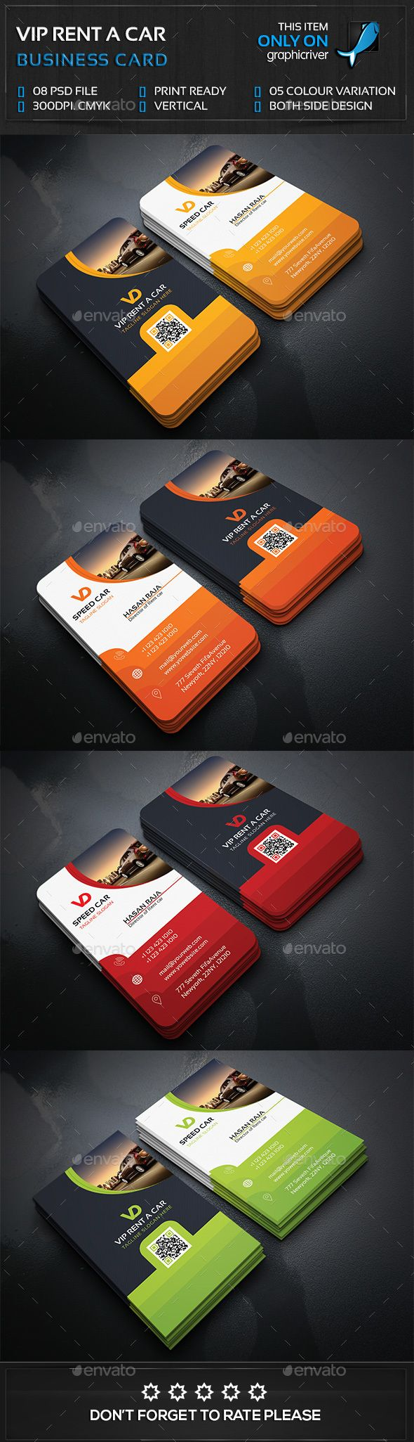 Rent a Car Business Card Template PSD. Download here: http://graphicriver.net/item/rent-a-car-business-card/14853445?ref=ksioks
