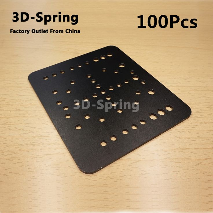 100Pcs Openbuilds Open Rail Gantry Plate 60mm Aluminum CNC Sandblasting oxidation 120*140*3 120x140x3 mm For 3D printer #Affiliate