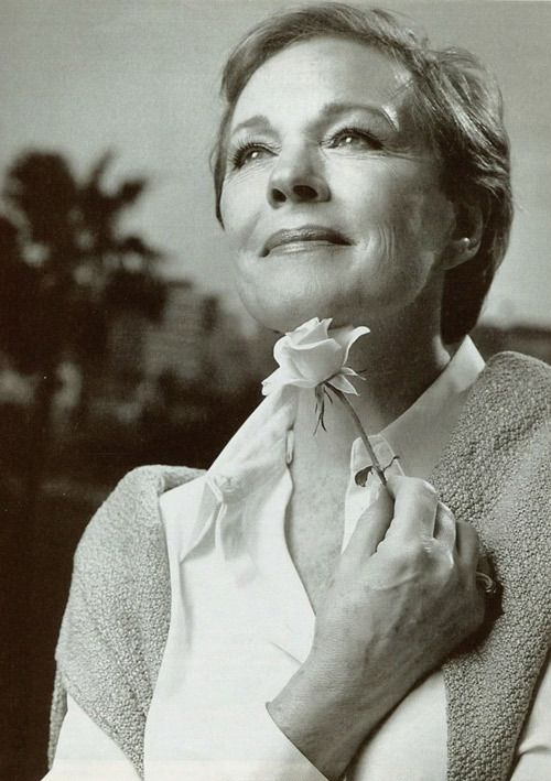 Julie Andrews: classy, beautiful, talented, timeless. I totally cried when she sang again in Princess Dairies 2 - that and her mattress sliding made that movie.