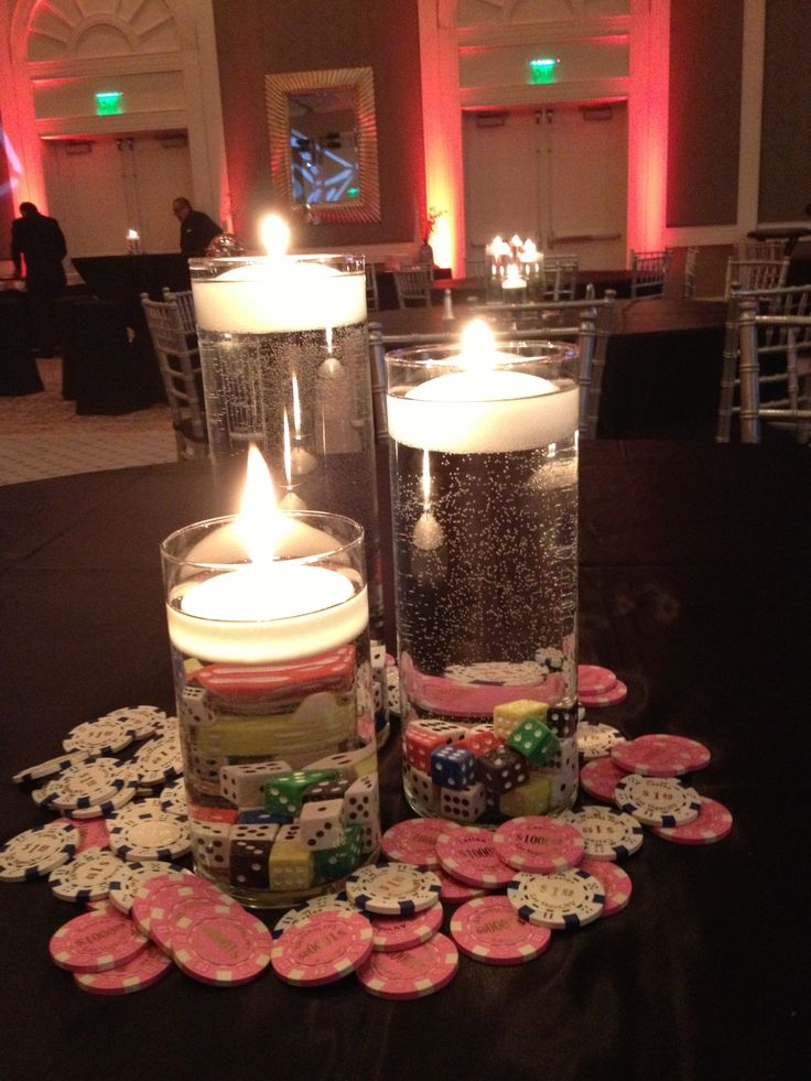 Best ideas about casino themed centerpieces on