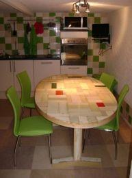 Ovale tafel sloophout | tafel op kleur en maat gemaakt | de Steigeraar