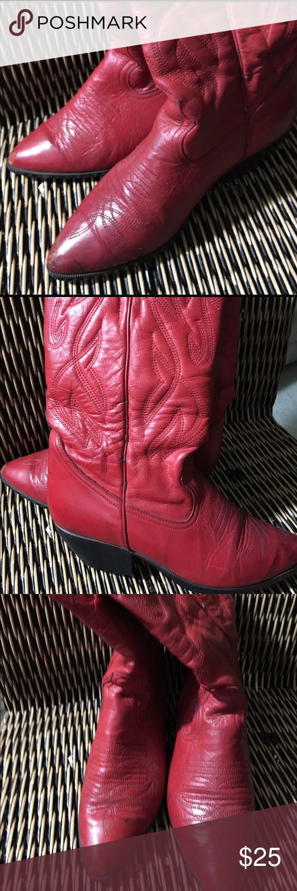 """❤Cute Maine Woods Fire engine Red Ankle boots This is a Maine Woods Super Cute Fire Engine Western Ankle boots. In good condition ( there is some darkening at the top due to being stored in a damp area however this does not affect the shoe very much """" Reason for offering at a lower price) There is also some scruff marks at one of the inside heels. 📦Sold As Is please read before purchase📦 Shoes Ankle Boots & Booties"""