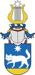 SV-42 Vladimir Iserell   Registrerat 2008-08-27.   (Ansökan: 2007:62)       Sköld: I blått en på en stam av guld gående utåtseende varg åtföljd ovan av en åttauddig stjärna, allt av silver.       Hjälmtäcke: Blått fodrat med guld och silver.       Hjälmprydnad: En lyra av guld krönt av en åttauddig stjärna av silver.