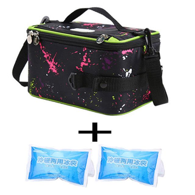 KinNet Insulation Thermal Lunch bag for Women Kids 4.5litre Lunch box ice Bag Outside Travel Picnic Food Package Tote Handbag
