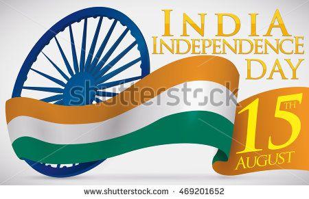 India flag like ribbon around Ashoka Wheel (justice symbol) and reminder for…