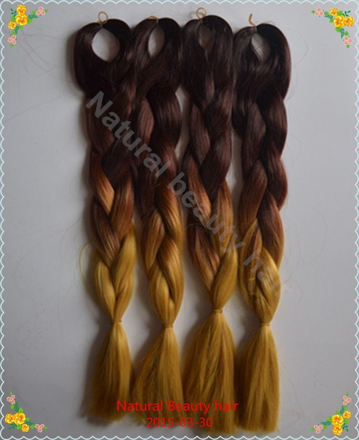 $7.68/Piece:buy wholesale Free shipping!Two tones color Brown jumbo 100% kanekalon xpression hair braids,ombre kanekalon braiding hair, fake hair from DHgate.com,get worldwide delivery and buyer protection service.