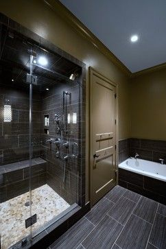 Not a white bathroom, but the tiles in a lighter shade are beautiful (currently Emser Strands - Twighlight)