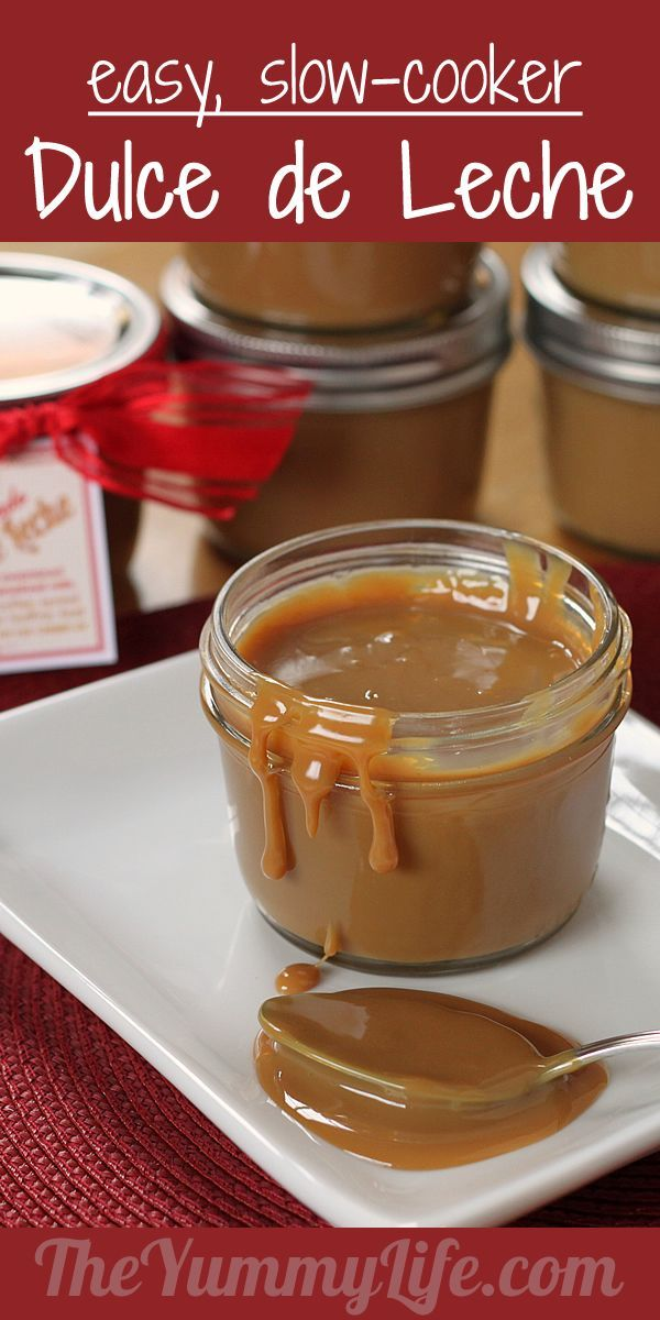 Dulce de Leche. Cook this delicious, creamy topping in a slow cooker ...