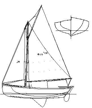 Line Drawing Heir Island Sloop
