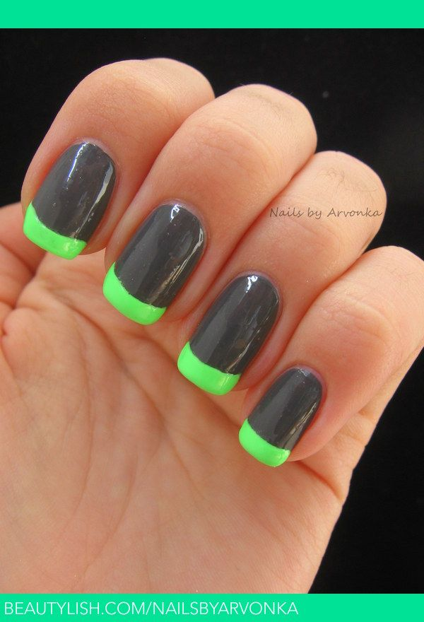 Neon French Manicure | awful colors but i liike the idea