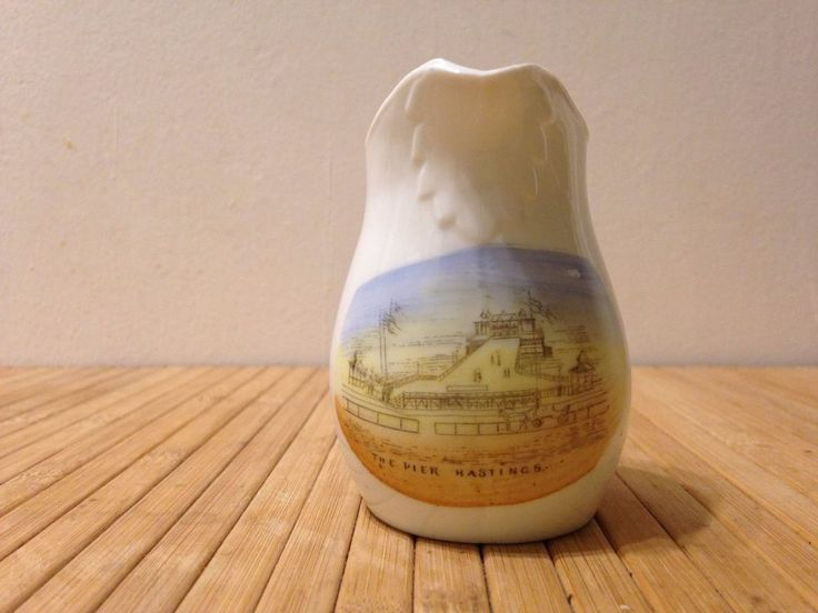 The Pier Hastings Small China Souvenir milk Jug Made in Germany £1.00 +p&p