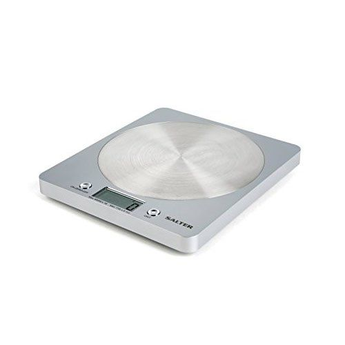 Salter Digital Kitchen Weighing Scales - Slim Design Electronic Cooking Appliance for Home / Kitchen, Weigh Food up to 5kg + Aquatronic for Liquids ml and fl. Oz. 15Yr Guarantee - Silver #Salter #Digital #Kitchen #Weighing #Scales #Slim #Design #Electronic #Cooking #Appliance #Home #Kitchen, #Weigh #Food #Aquatronic #Liquids #Guarantee #Silver