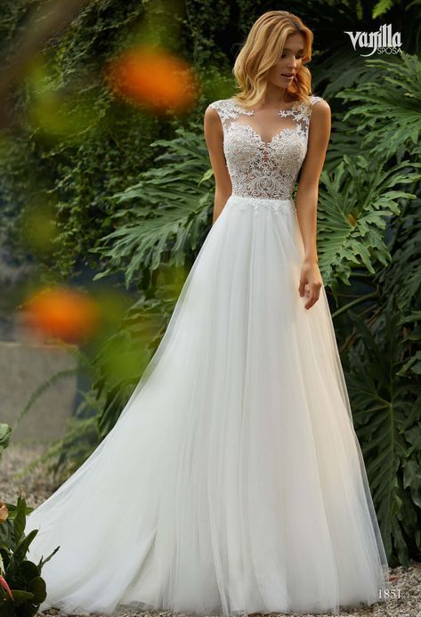 Vanille-Braut 1851   Bailando Boutique    Brautkle #Wedding_Gowns_a_line #Weddin…