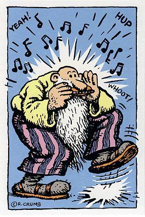 Mr Natural & Blues Harp. Veja também: http://semioticas1.blogspot.com.br/2012/05/estilo-crumb.html