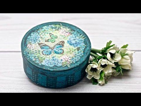 Decoupge  vintage  pudełko z motylami - DIY tutorial