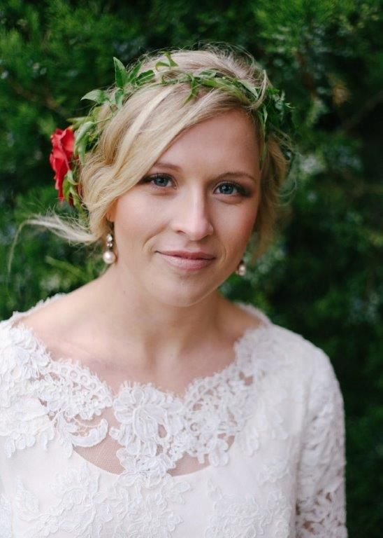 Add a pop of color to your wedding dair hairstyle | Carrie Purser Makeup and Hair Artistry