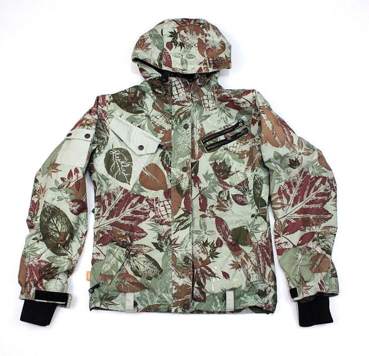 Grenade Fatigue Project Mens Ski Jacket Hooded Zip Winter Snowboarding Coat S #Grenade #SkiJacket