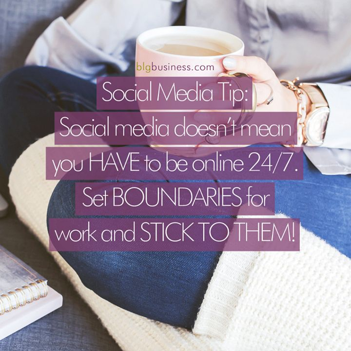 If you are not good at setting boundaries you might be answering Facebook messages in the middle of the night! Brick and mortar businesses have open & close hours - just because you work from home doesn't mean you can't do the same