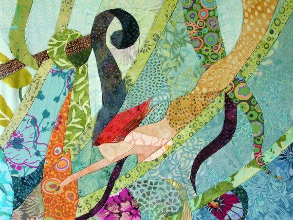 mermaid fabric art