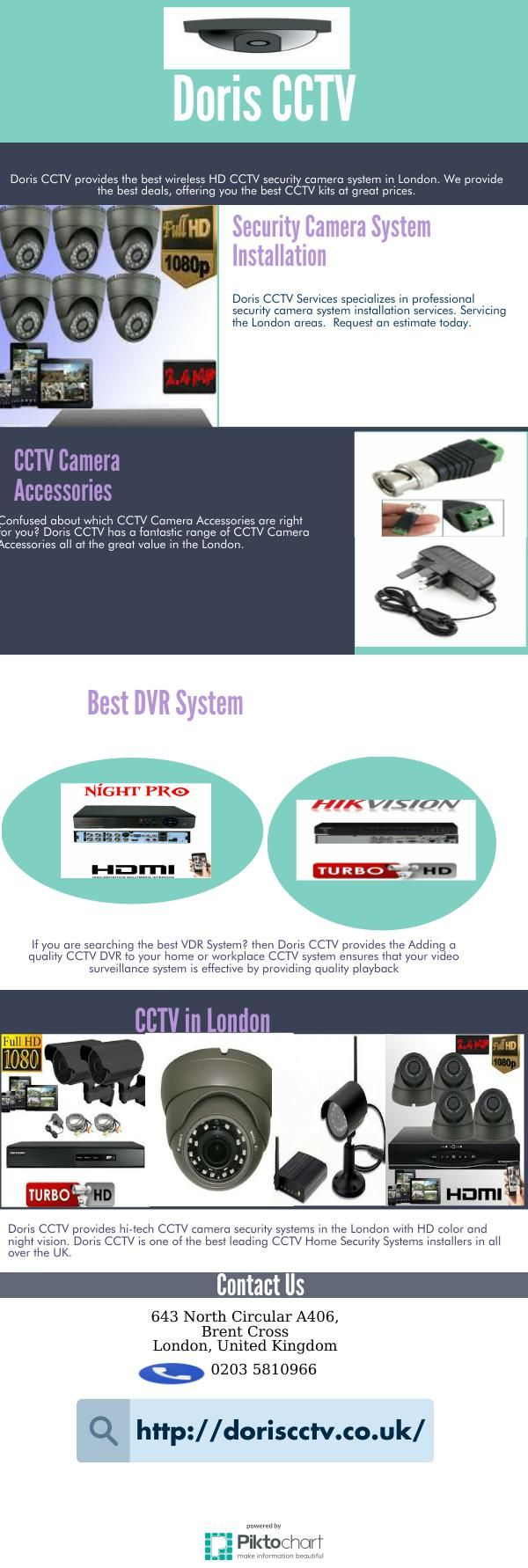 Doris CCTV Services specializes in professional security camera system installation services. Servicing the london areas.