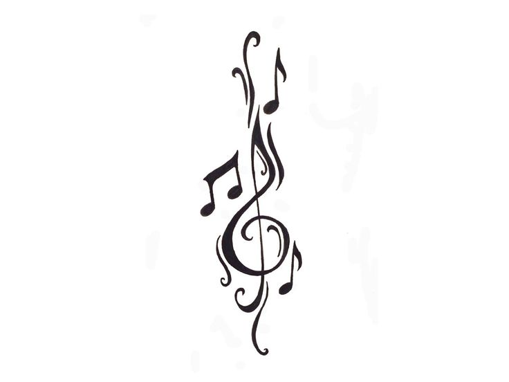Clef and notes tattoo. Love this idea think I might get this on my shoulder or calv
