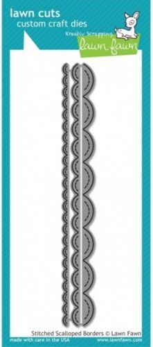 LAWN FAWN DIES LF612 - STITCHED SCALLOPED BORDERS DIESfra LAWN FAWN.LAWN FAWN - Lawn Cuts Custom Craft Dies -High quality steel craft dies. Some coordinate with stamp sets for even more creative choices.These dies are made of 100% high quality steel; are compatible with most die-cutting machines; and will inspire you to create cute crafts!This 8-1/2x3-3/4 inch package contains Stitched Scalloped Border: three dies. Flere spennende produkter fra denne leverandøren finner du hereller...