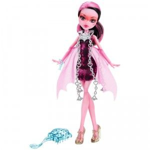 The Monster High Haunted Getting Ghostly Draculaura doll is based on the character's ghostly new look as seen in the Monster High DVD Haunted.