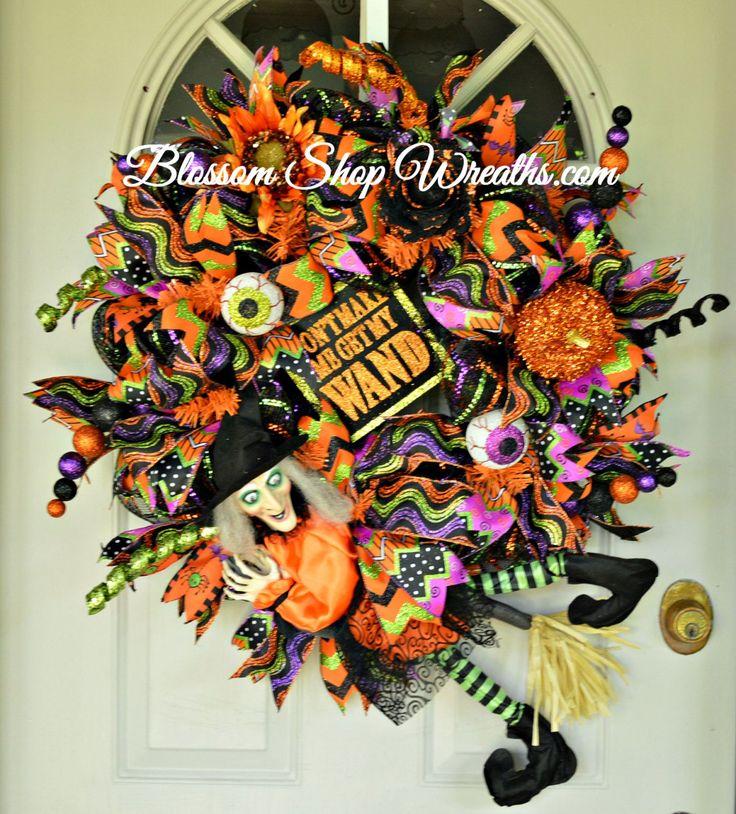 deco mesh wreath halloween wreath witch wreath halloween door wreath halloween decor