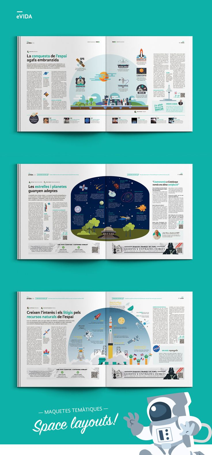 Space Magazine Layout. Use centre space with white space