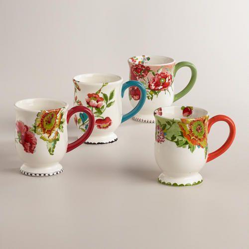 Nomad Flower Mugs, Set of 4