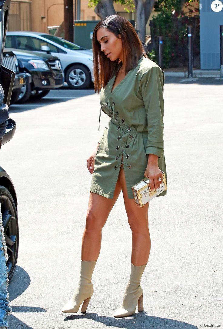 Kim Kardashian et son mari Kanye West sont allés déjeuner au restaurant Ysabel à West Hollywood, le 31 juillet 2016. Kim affiche une nouvelle coiffure !