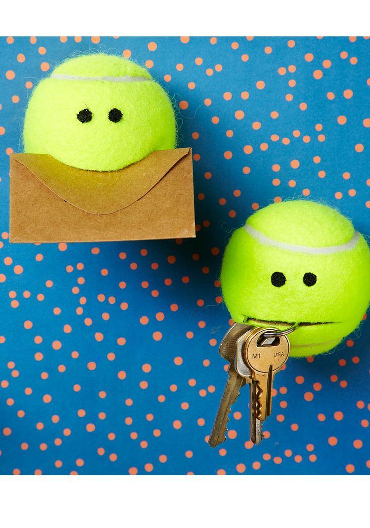 Get creative with tennis balls for this super cute DIY organization idea!