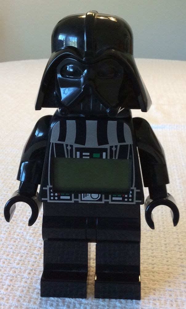 "Lego Star Wars Darth Vader 9"" Mini Figure Digital Alarm Clock"