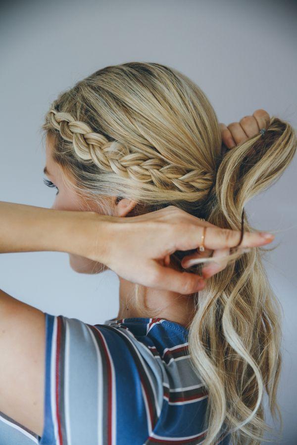 Cute Braid For A Volleyball Game Modern Hair Braiding Pinterest