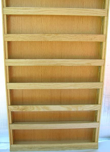 """Spice racks made large with 6 adjustable shelves - shelf lips are 1 1/4"""" tall"""