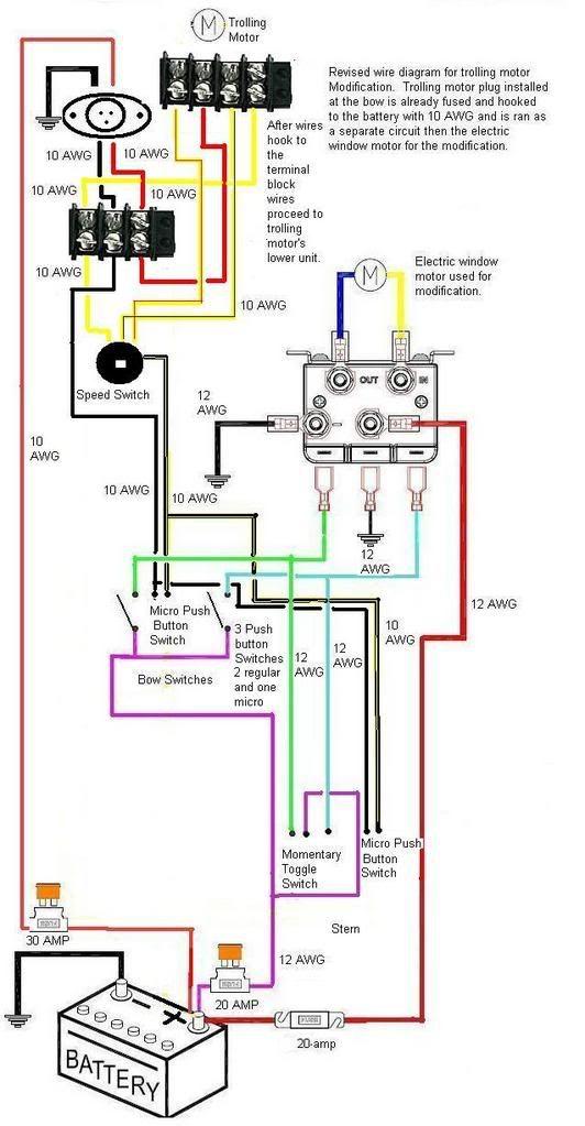 Motuide Trolling Motor Wiring Diagram: Motuide Wire Diagram Page 1 Iboats Boating Forums