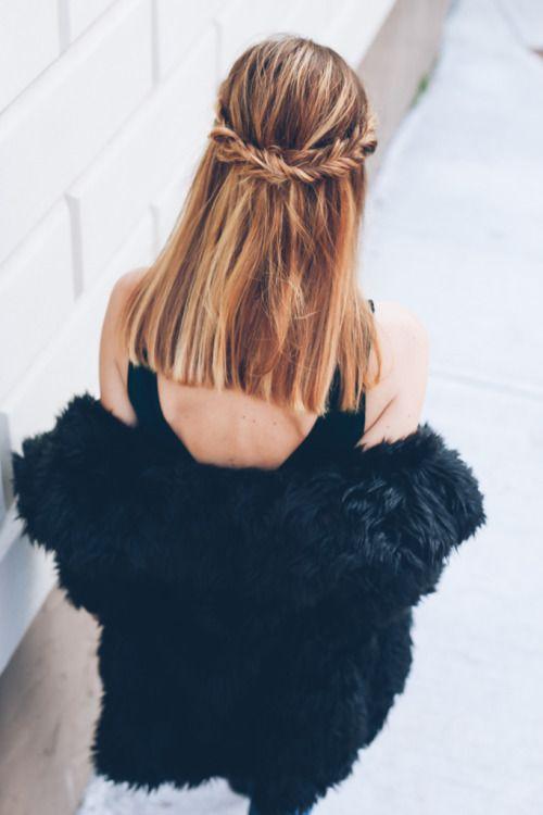 fishtail braid crown