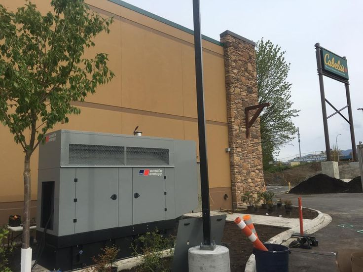 Cabela's #generator undergoing testing prior to the store opening soon in beautiful #Abbotsford, BC! #generators #powersystems #backuppower